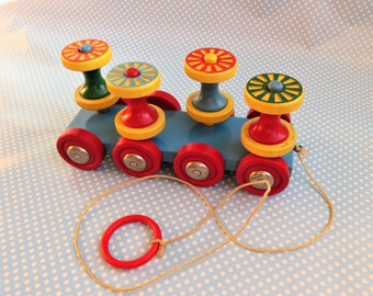 Vintage Brio wooden pull along toy.
