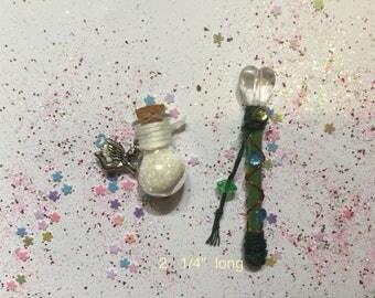 Miniature fairy wand & fairy dust set, Miniature Fairy Wand, Miniature Fairy Dust, Miniature Wand, Pixie Dust, White Fairy Wand