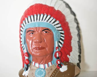 Plaster Indian Chief Bust