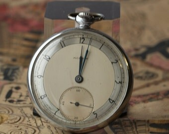 Soviet watch.Open Face.Vintage watch.Mechanical watch.Pocket Watch.Collectible.Mens watch. Russian watch.USSR
