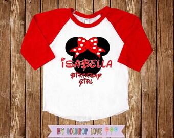Minnie Mouse Birthday Girl /Minnie Mouse Shirt / Minnie Mouse Personalized shirt / Girls Birthday shirt