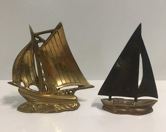 Brass sail boats