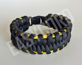 EASYCORD NEW 2016 Paracord Bracelet Fishtail Black and Explode colors