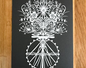 Original Papercut Floral Bouquet / Original Papercut