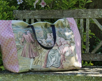 "French tapestry tote bag ""Made in France"""
