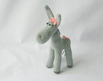 Donkey toy Crochet Donkey girl Stuffed Donkey toy Donkey plush Donkey softie Gift for girl Handmade Donkey Amigurumi animal Crochet animal