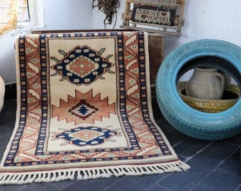 FREE SHIPPING   Turkish Rug, Aztec Rug, Bohemian Rug, Antique Rug, Bohemian Rug 2,8 X 4.5, Vintage Area Rug, Decorative Rug No 282