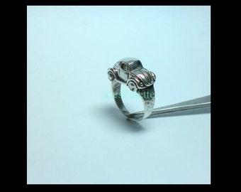 VW Beetle 925 Silver Handmade Ring - Free Shipping