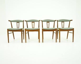 306-223.1 SALE! Danish Mid Century Modern 4 Teak Dining Chairs by Johannes Andersen