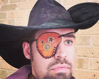 Steampunk Leather Eyepatch
