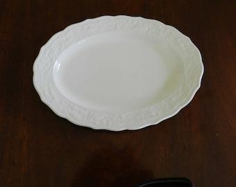 Embossed White Platter