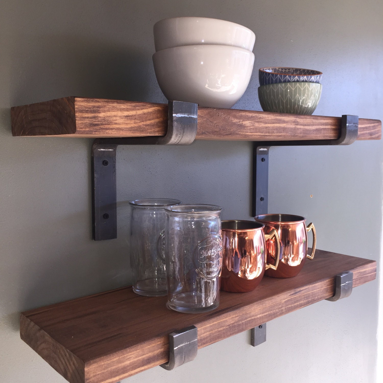 Kitchen Open Shelving Depth: Industrial Floating Shelves 12 Depth Fixer Upper Style