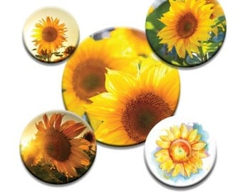 A pack of 5 sunflowers Pattern weights Ideal for weighing down patterns on delicate fabrics no need for pins TV sewing Bee