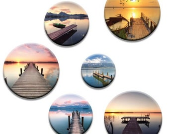 A pack of 5 coastal jetty lakes  Pattern weights Ideal for weighing down patterns on delicate fabrics no need for pins TV sewing Bee