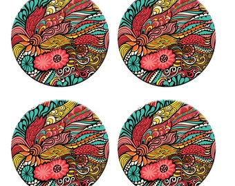 A pack of 4 Ethnic sea of flowers design Pattern weights Ideal for weighing down patterns on delicate fabrics no need for pins