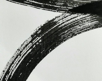 Trazos de tinta negra.