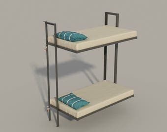 build your own folding bunk bed  diy plans  fun to build  build your own futon diy plans fun to build save money  rh   etsy