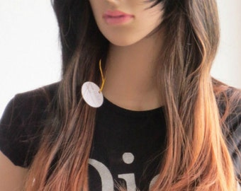Wig Ombre black-brown hair synthetic very soft 55 cm