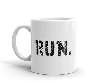 11 oz Coffee Mug:  Run