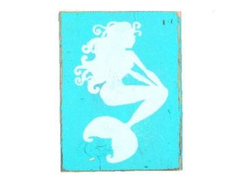 Mermaid Silhouette Block
