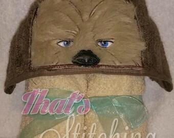 Star Wars Chewbacca Inspired Hooded Bath Towel