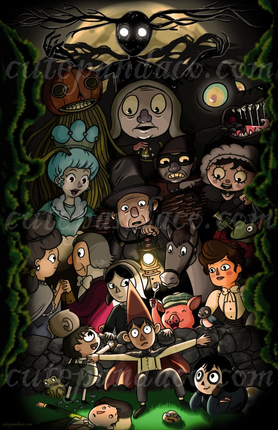 Over The Garden Wall All Character Print