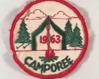 1963 Camporee Patch - Vintage Boy Scouts Badge - Camping Award