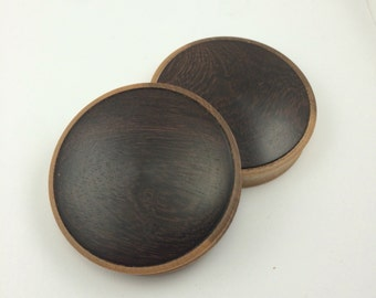 2 1/2 inch convex maple and katalox plugs