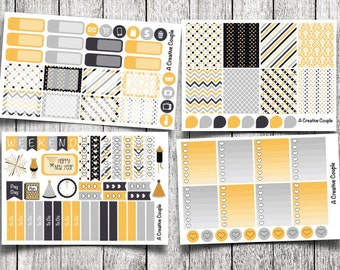New Years Weekly Kit Planner Stickers