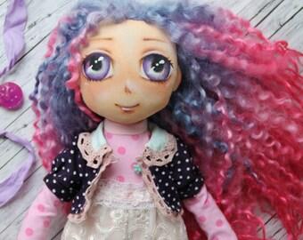 "Doll ""Mika"", handmade, 39 cm high"