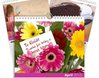 Personalised Best Mum Calendar - Desktop Calendar