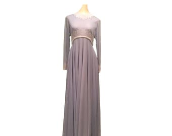 Vintage Gray/Blue Evening Gown