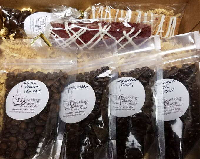 Birthday Gift Coffee Sampler, Personalized, Flavored and Origin Coffee, Coffee Gift Set, Birthday Gift Basket, Thank You Gift, Coffee Gift