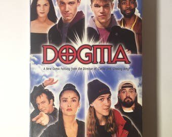 Dogma VHS kevin smith movie jay and silent bob mallrats clerks jerks religious film cult hit angels loki jason lee hockey nerdy vhs tape vhs