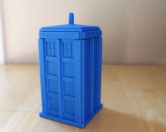 Tardis Storage Box, Doctor Who, 3D printed Dr Who Police Call Box, Pen holder, Planter, Cute, Best Gift, Monster, Geekery, Stocking Stuffer