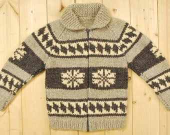 Vintage 1960's/70's Traditional COWICHAN Sweater / Retro Collectable Rare