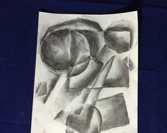 Shapes-vine charcoal on sketch paper