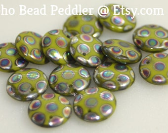 Czech Glass Lentils 10 Beads