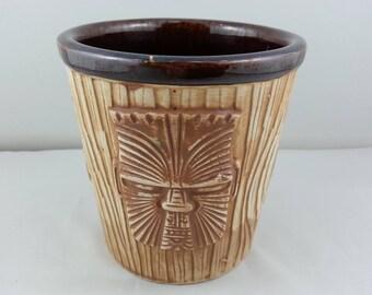 Vintage Tiki Mug - OMC Three Face Bucket Mug - Made in Japan