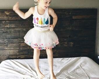 Disney princess tank- squad goals tank - princess racerback - disney outfit- princess shirt- princess tank