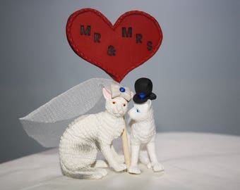 Cat Cake Topper - Kittens - Wedding Cake Topper - Personalized - Bride and Groom - Custom Cake Topper - Cute - Adorable - Unique - Elegant