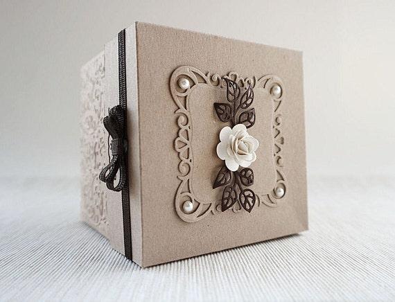 Gift Box Wedding Invitations: Shabby Chic Wedding Invitation Vintage Wedding Exploding Box