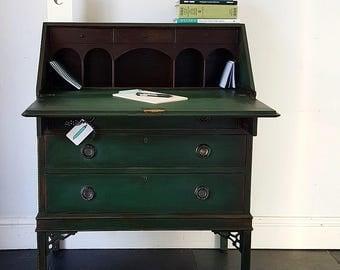 SOLD - Antique Painted Edwardian Bureau Desk
