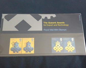 Royal mail stamps the Queens awards for export and technology  stamp presentation pack No207