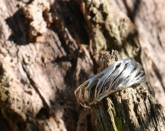 Sterling silver natural ring