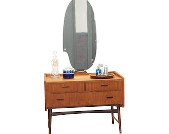 Danish Teak Vanity with Icon Mirror