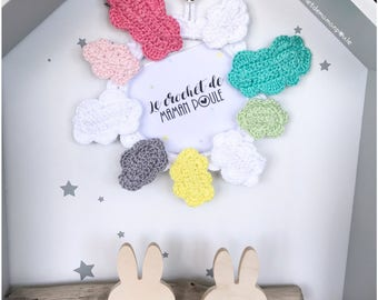 Set of 2 hair clips {cloud or big cloud - small barrette or large clip select colors., see color chart.