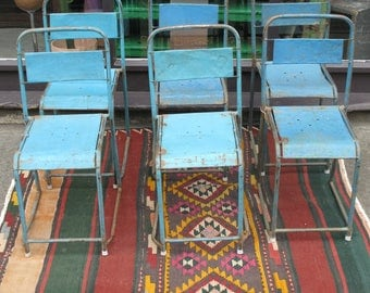 Set of 6 Vintage Indian Stacking Chairs