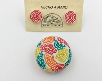 Set of two pieces in polymer clay
