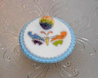 LGBT Wedding Fondant Cupcake Topper Pastel Rainbow Butterfly (Qty. 12) – Gay Fondant Cupcake Topper – Lesbian Wedding Cupcake Topper